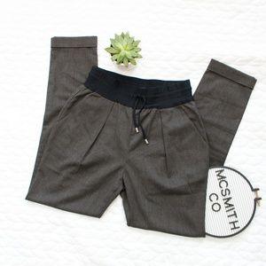 Zara Basic | Gray Jogger Trouser Cuff Pants
